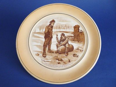 Grimwades WW1 Bruce Bairnsfather 'Old Bill' Large Wall Plaque c1917 (Sold)